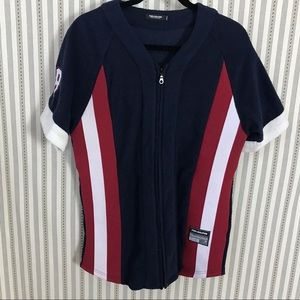 Pink Dolphin Terry Cloth Baseball Jersey